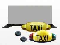 LAMPS AND TAXI advertising boxes